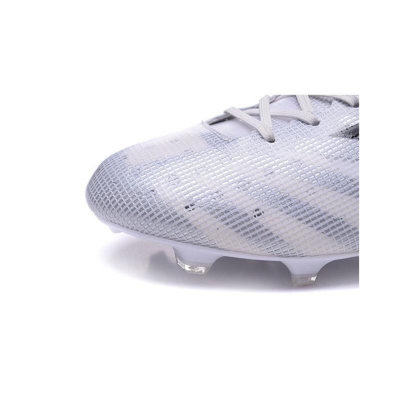 Nuovo Scarpa Da Calcio Adidas F50 Adizero FG Bianco Nero