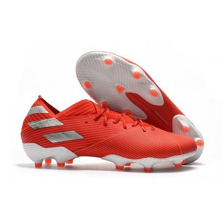 adidas Nemeziz 19.1 FG Scarpe Calcio Rosso Argento