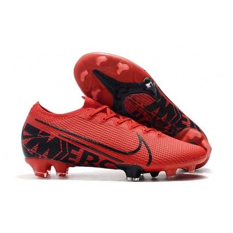 Scarpe calcio Nike Mercurial Vapor 13 Elite FG Rosso Nero