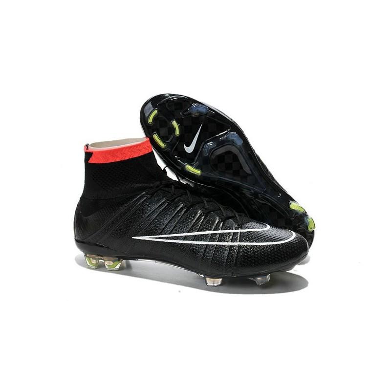 Scarpini da Calcio Nike Mercurial Superfly FG ACC Nero Bianco Rosso 5f52e6235ae