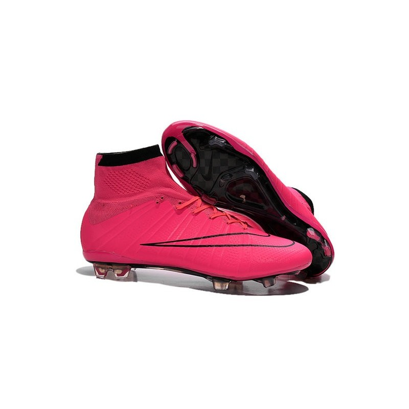 innovative design b68a5 c9c49 Nike Nuove Scarpe Calcio Mercurial Superfly CR7 FG Rosa Nero