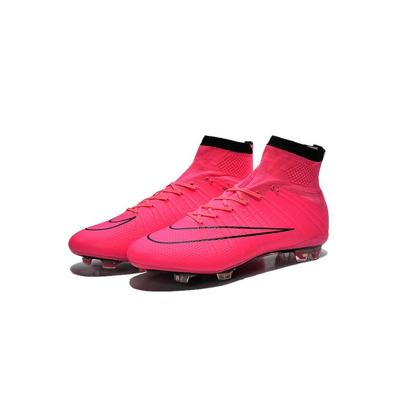 innovative design 73dc4 047e8 Nike Nuove Scarpe Calcio Mercurial Superfly CR7 FG Rosa Nero