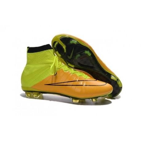 Ronaldo Scarpa Nike Mercurial Superfly 4 FG Pelle Giallo Volt