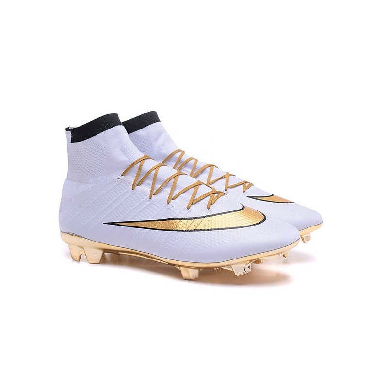 Fg Superfly Oro Bianco Scarpa Mercurial Nike 4 Ronaldo IYH2WED9