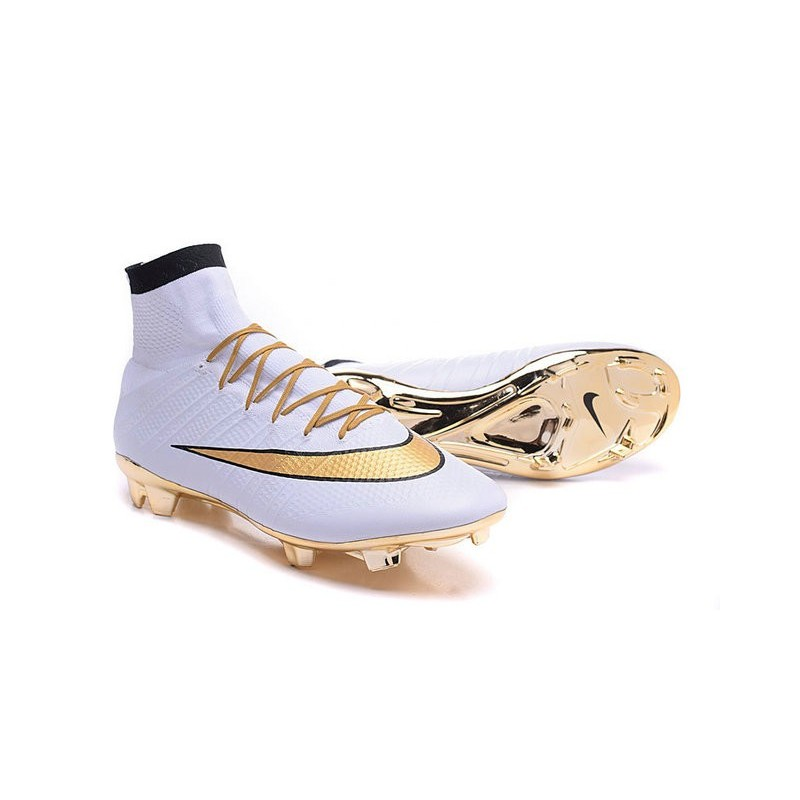 info for e06d9 306a5 Ronaldo Scarpa Nike Mercurial Superfly 4 FG Bianco Oro