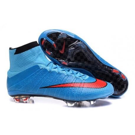Cristiano Ronaldo Scarpe Nuove 2016 Nike Mercurial Superfly FG Blu Rosso