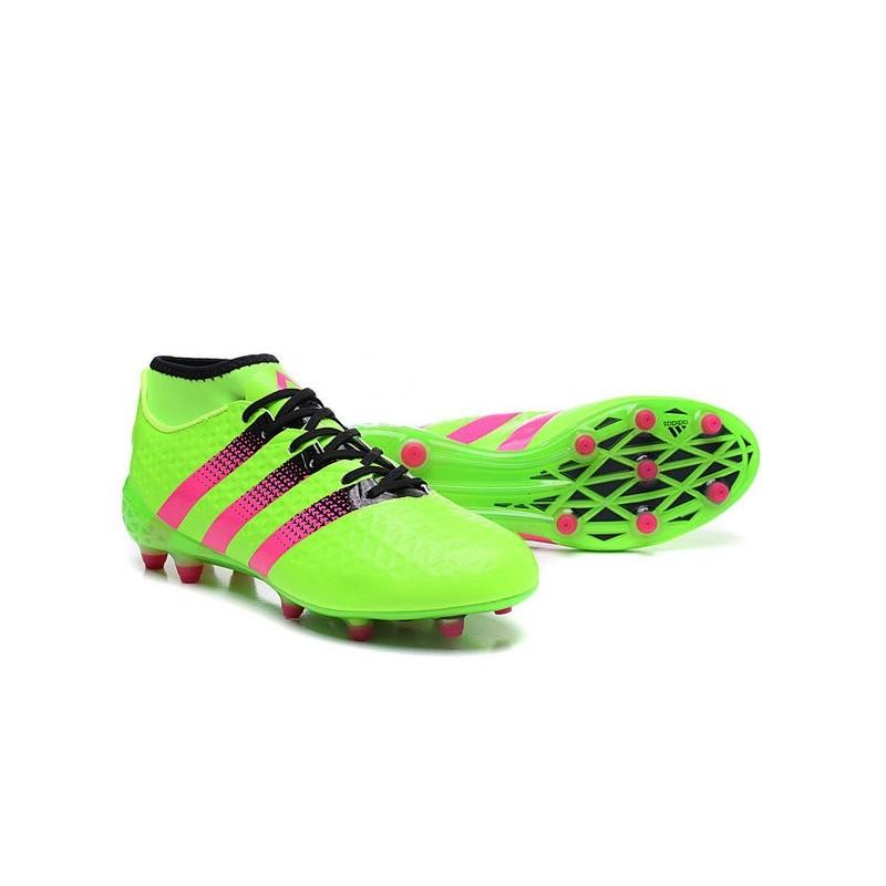 adidas Scarpe da Calcio ACE 16.1 Primeknit FG AG Con Tacchetti Verde Rosa  Vedi a schermo intero. Precedente. Successivo 2578660ecd754