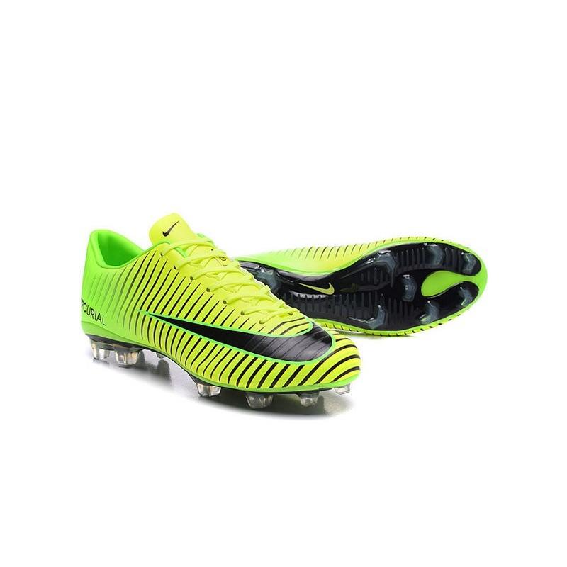on sale d854d e9f5c Scarpe da Calcio Nuovo 2016 Nike Mercurial Vapor XI FG ACC Verde Nero