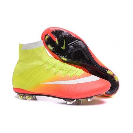 Scarpette da Calcio Uomo Nike Mercurial Superfly FG ACC Giallo Arancio Bianco