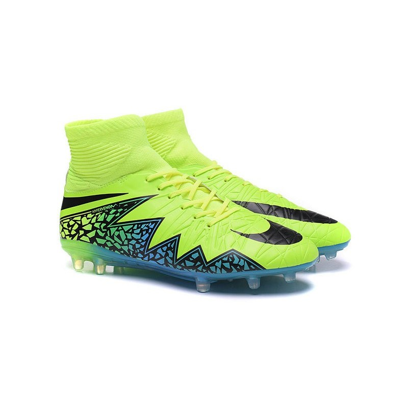 best loved cfca5 22b19 Nuovo Scarpa Nike Hypervenom Phantom 2 Tech FG Verde Blu Ner
