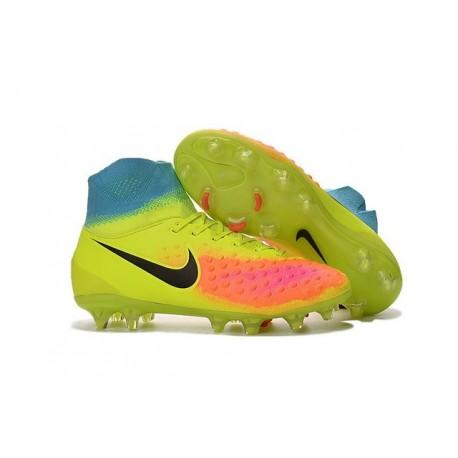 Scarpini da Calcio 2016 Nike Magista Obra II FG Cremise Nero Arancio