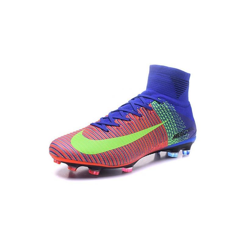 Arancio Nike Fg Da Superfly V Mercurial Scarpe Blu Verde Calcetto 08nPwkOX