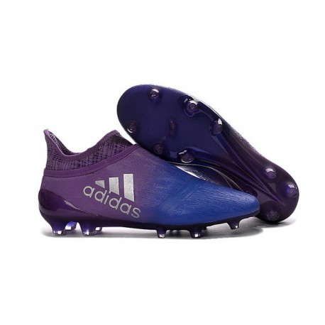 new product eb350 68286 adidas Scarpe da Calcio Uomo X 16+ Purechaos FGAG Terreni duri Viola Blu