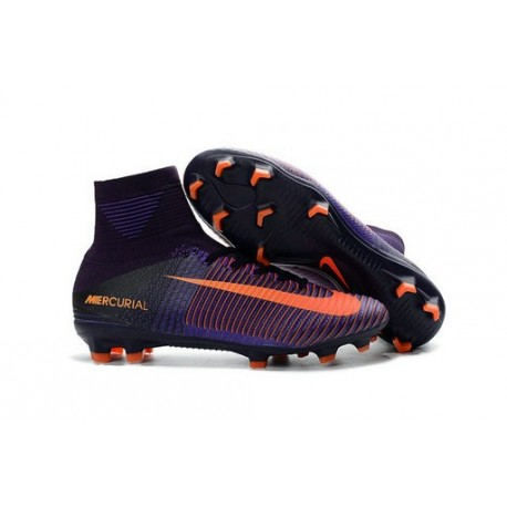Sneakers 2018 selezione straordinaria vendita calda autentica mercurial con calzino viola