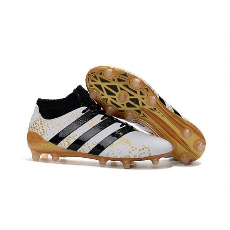 adidas ACE 16.1 FG Scarpe da Calcio Uomo Bianco Oro Nero