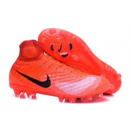 Scarpe da Calcio Nike Magista Obra II FG Uomo Rossa Nero
