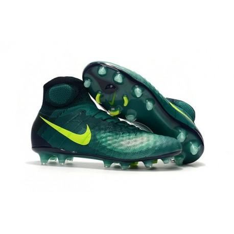 Nike Magista Obra 2 FG Nuove Scarpe da Calcio Verde Giallo