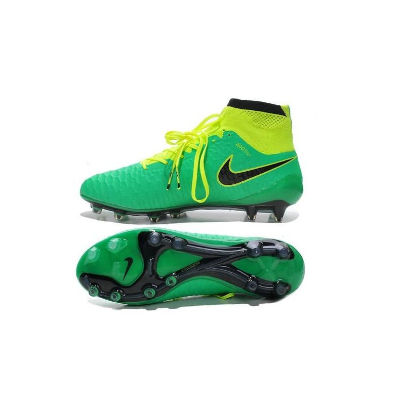 the latest 5722a 92113 Scarpe da Calcetto Nike Magista Obra Tech FG ACC Verde Nero