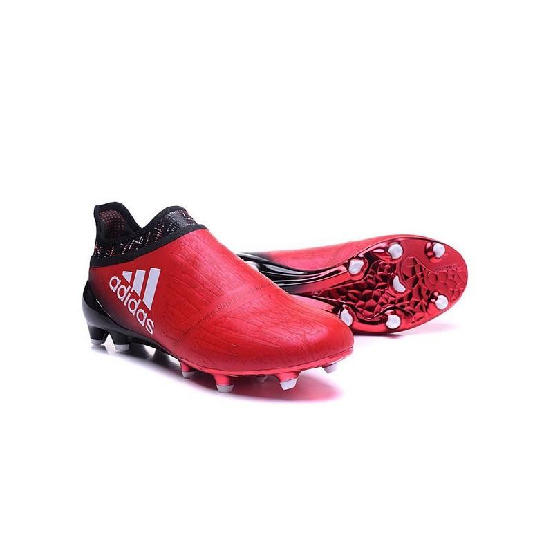 new styles 8a982 e6564 adidas Scarpe da Calcio Uomo X 16+ Purechaos FG AG Terreni duri Rosso Nero  Bianco