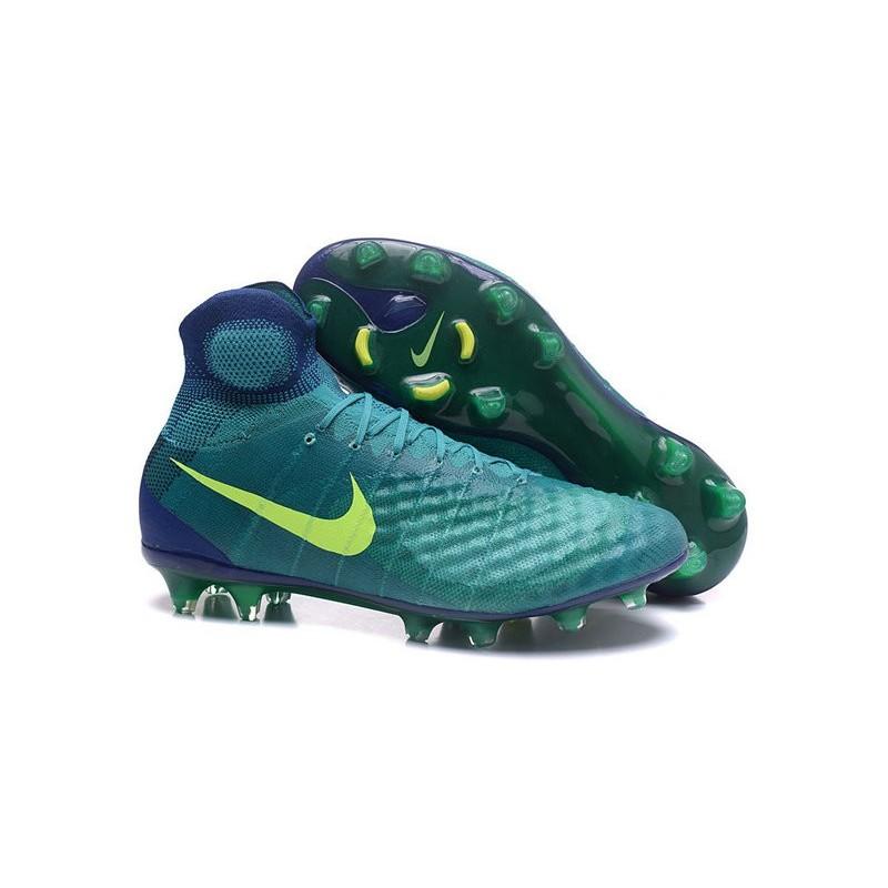 489b78ad4 Nike Uomo Scarpa Calcio Magista Obra II FG Verde Giallo