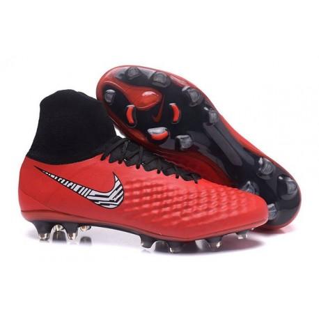 Nike Uomo Scarpa Calcio Magista Obra II FG Rosso Nero