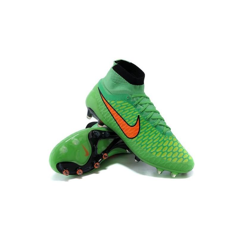 newest abdc5 63d7d Scarpe da Calcetto Nike Magista Obra Tech FG ACC Verde Aranc