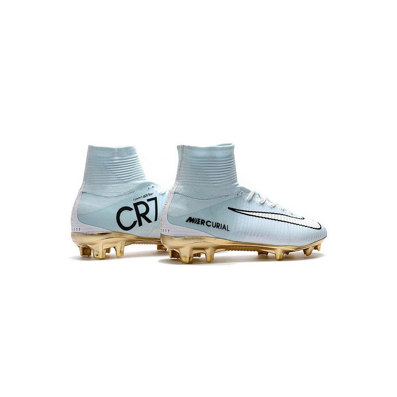 Calcio Fg Oro V Scarpa Bianco Vitórias Mercurial Cr7 Nike Superfly SxHXq0