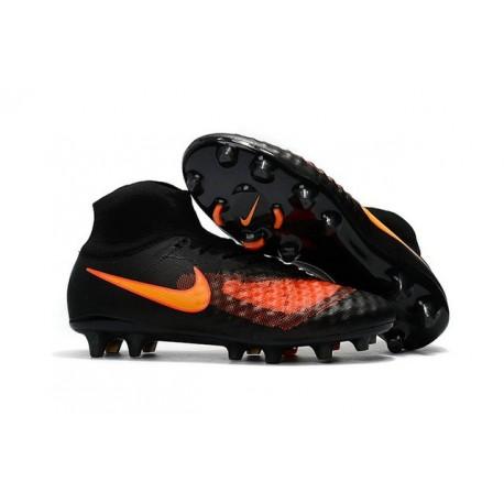 Nike Magista Obra 2 FG ACC 2017 Scarpa di Calcio Nero Arancio