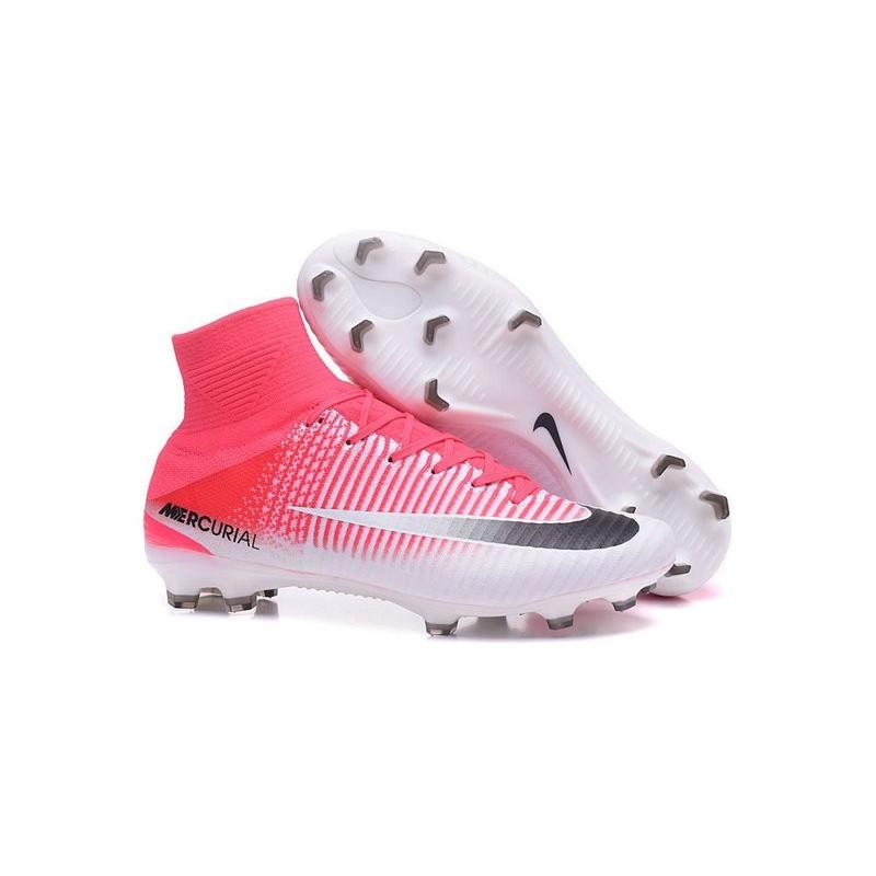 best sneakers 1671c 9b810 Nike Mercurial Superfly V FG Scarpa Calcio Rosa Bianco Nero Vedi a schermo  intero. Precedente. Successivo