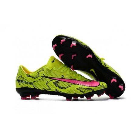 Nuovo Scarpe da Calcio Nike Mercurial Vapor XI FG Giallo Rosa