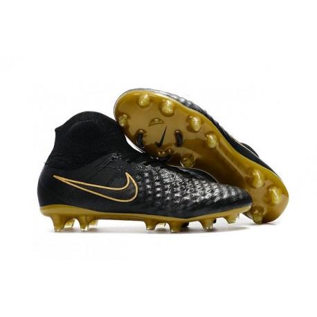 Nike Magista Obra 2 FG ACC 2017 Scarpa di Calcio Nero Oro