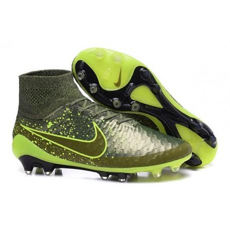 Nike Magista Obra Tech FG Nuove Power Clash Scarpe Calcio-Agrume Scuro Volt Nero