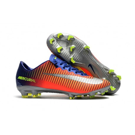 Nike Mercurial Vapor XI FG - scarpa calcio uomo - blu cromo cremise