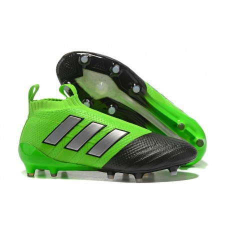 adidas ACE17+ PureControl FG Scarpe Uomo - Verde Nero 8b1cae1a7e9b4