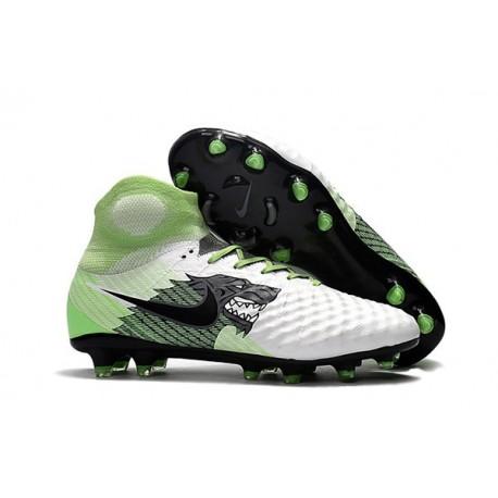 Scarpe Nuovo 2017 Nike Magista Obra II FG - Bianco Verde Nero