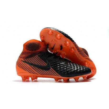 Nike Magista Obra II FG Scarpa da Calcio Nero Arancio