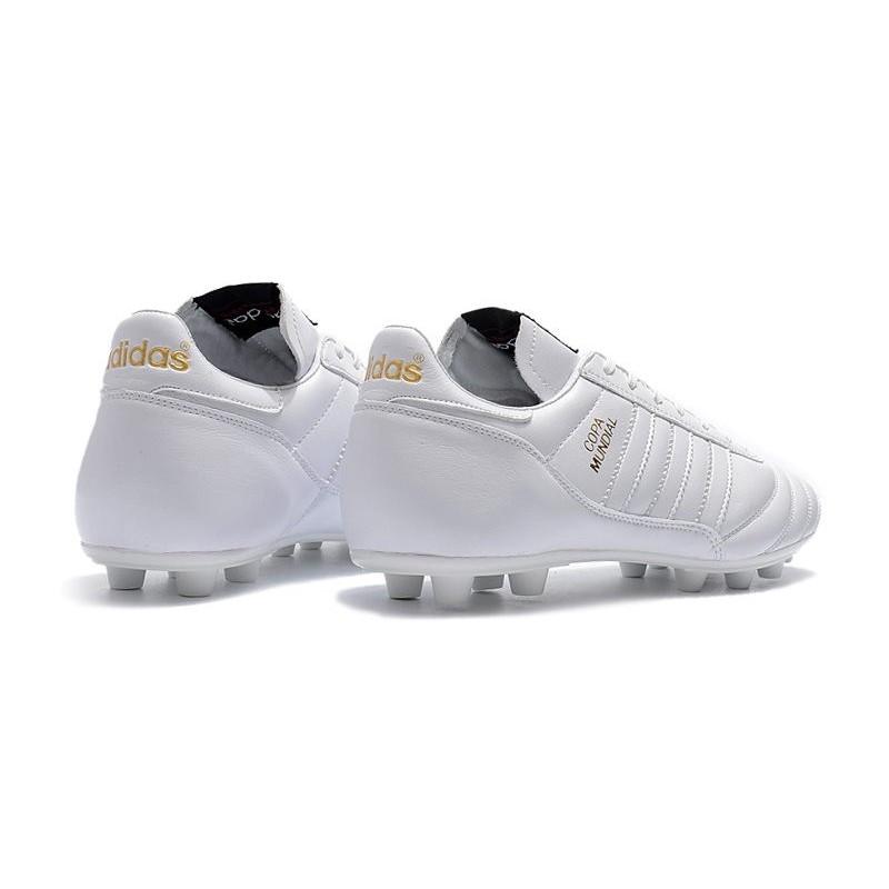 buy popular c50f0 8098c Adidas Calcio Scarpe Mundial Otzwdvcxq Pelle Fg Bianco At Copa AggqdX