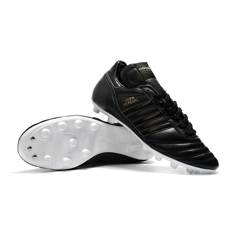 timeless design edf18 90a7f Scarpe Calcio Adidas Copa Mundial Pelle FG Nero Oro Vedi a schermo intero.  Precedente. Successivo