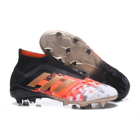 adidas Scarpa da Calcio Predator 18+ FG - Telstar Nero Rojo Oro