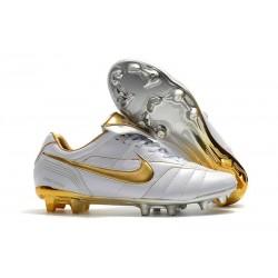 Scarpa da Calcio Nike Tiempo Legend 7 Elite FG - Bianco Oro