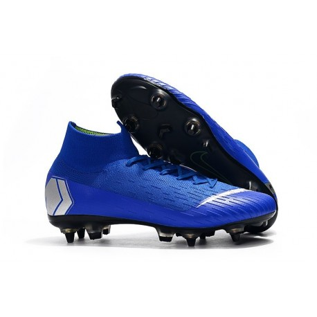 Nike Mercurial Superfly VI 360 Elite SG-PRO AC Azul Argento