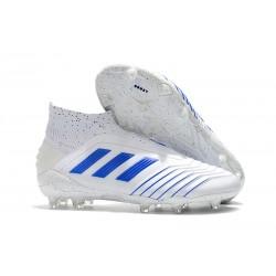 Nuovo Scarpe 2019 adidas Predator 19+ FG - Virtuso Bianco Blu