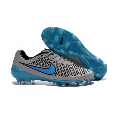 Scarpe Calcio Andres Iniesta Nike Magista Opus FG Wolf Pack Grigio Blu