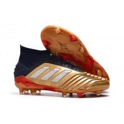 adidas Scarpa da Calcio Predator 19.1 FG - Oro Rosso Argento