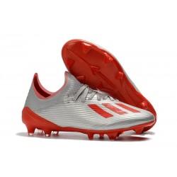 Scarpe Nuovo adidas X 19.1 FG Argento Rosso