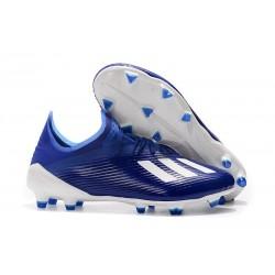 Scarpe Nuovo adidas X 19.1 FG Blu Bianco