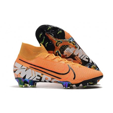 Scarpe Nike Mercurial Superfly VII Elite FG Arancione Bianco