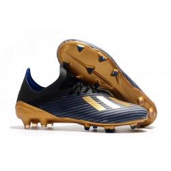 Scarpe Nuovo adidas X 19.1 FG Nero Oro Blu