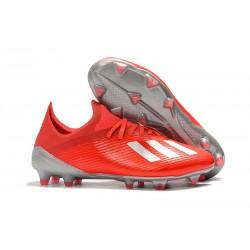 Scarpe Nuovo adidas X 19.1 FG Rosso Argento