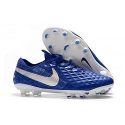 Scarpa Nuovo Nike Tiempo Legend VIII Elite FG Blu Bianco